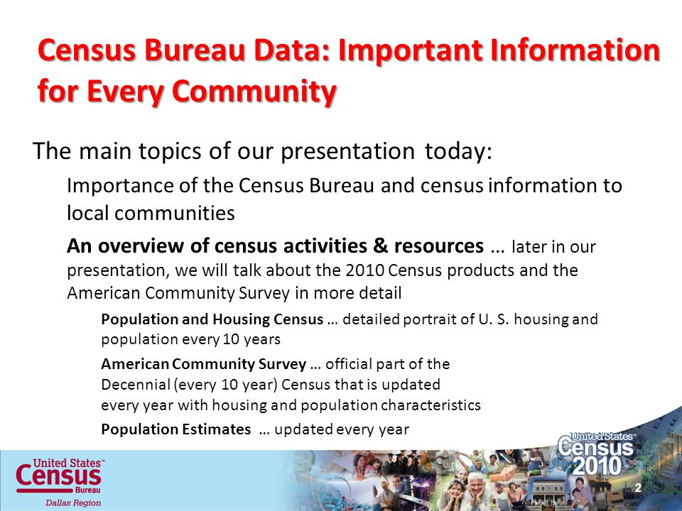 Census Bureau Data: Important Information for Every Community