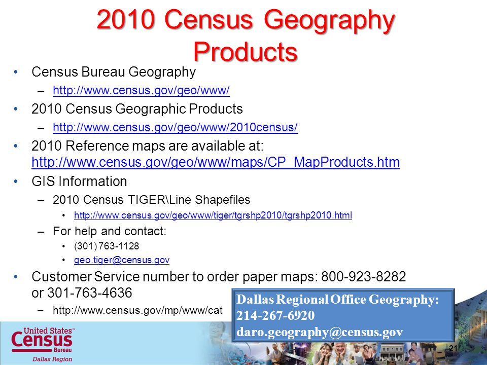 2010 Census Geography Products