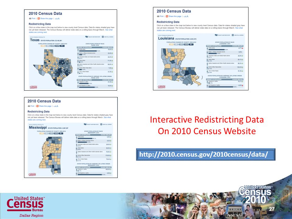 Interactive Redistricting Data