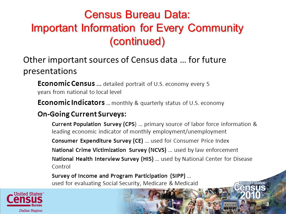 Census Bureau Data: Important Information for Every Community (continued)