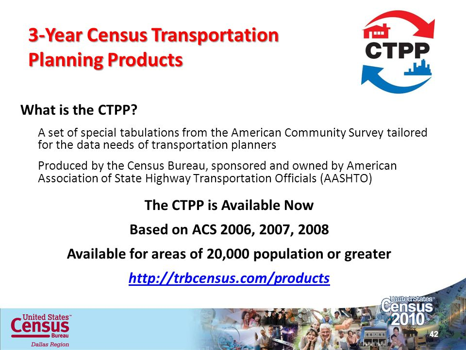 3-Year Census Transportation Planning Products