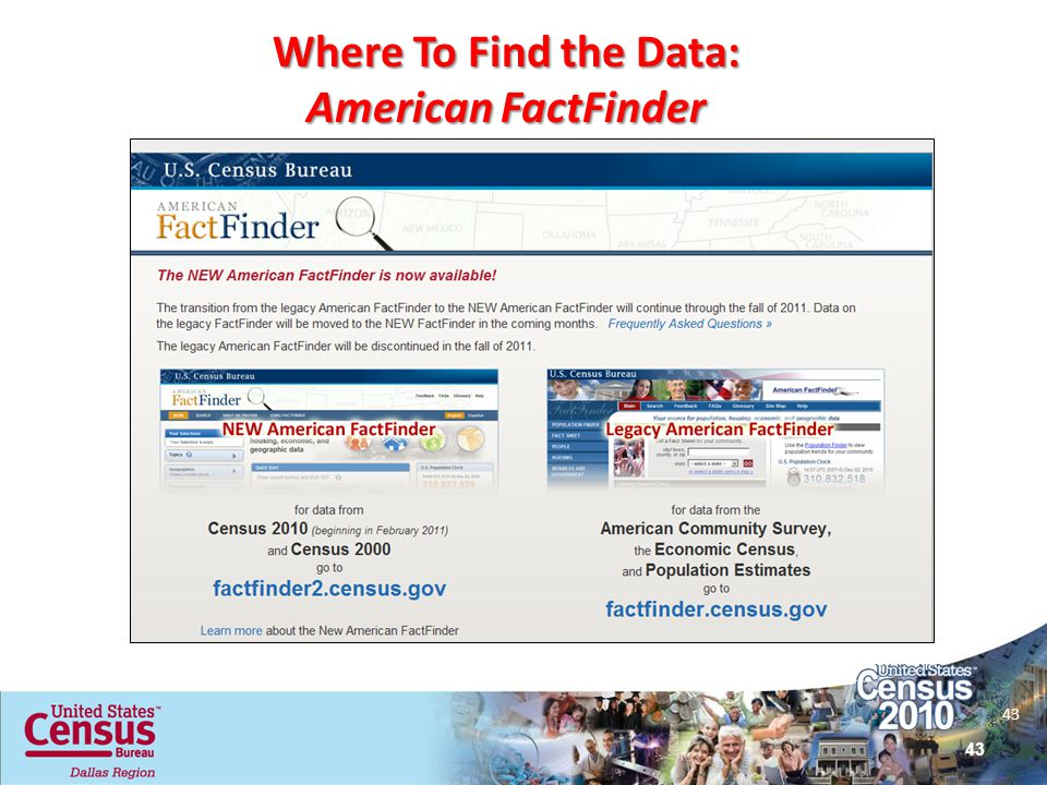 Where To Find the Data: American FactFinder