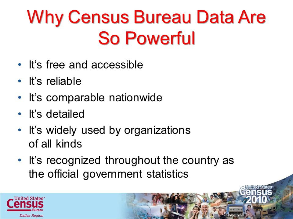Why Census Bureau Data Are So Powerful