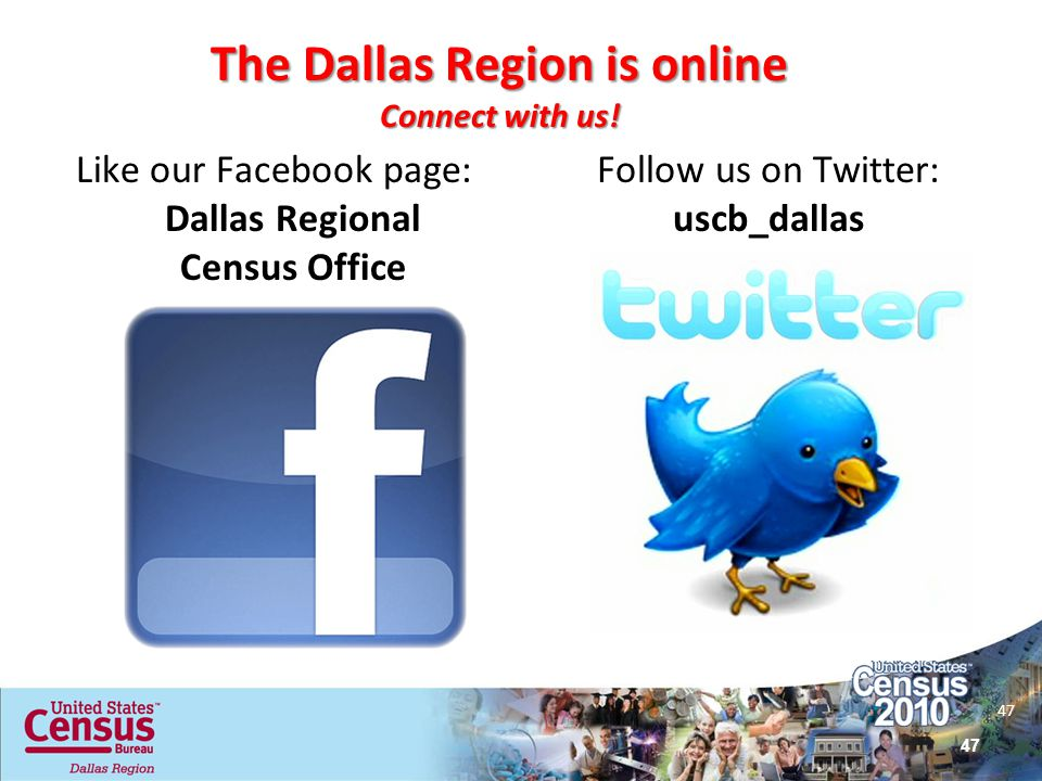 The Dallas Region is online Connect with us!