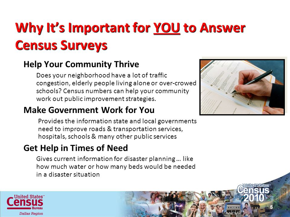 Why It's Important for YOU to Answer Census Surveys
