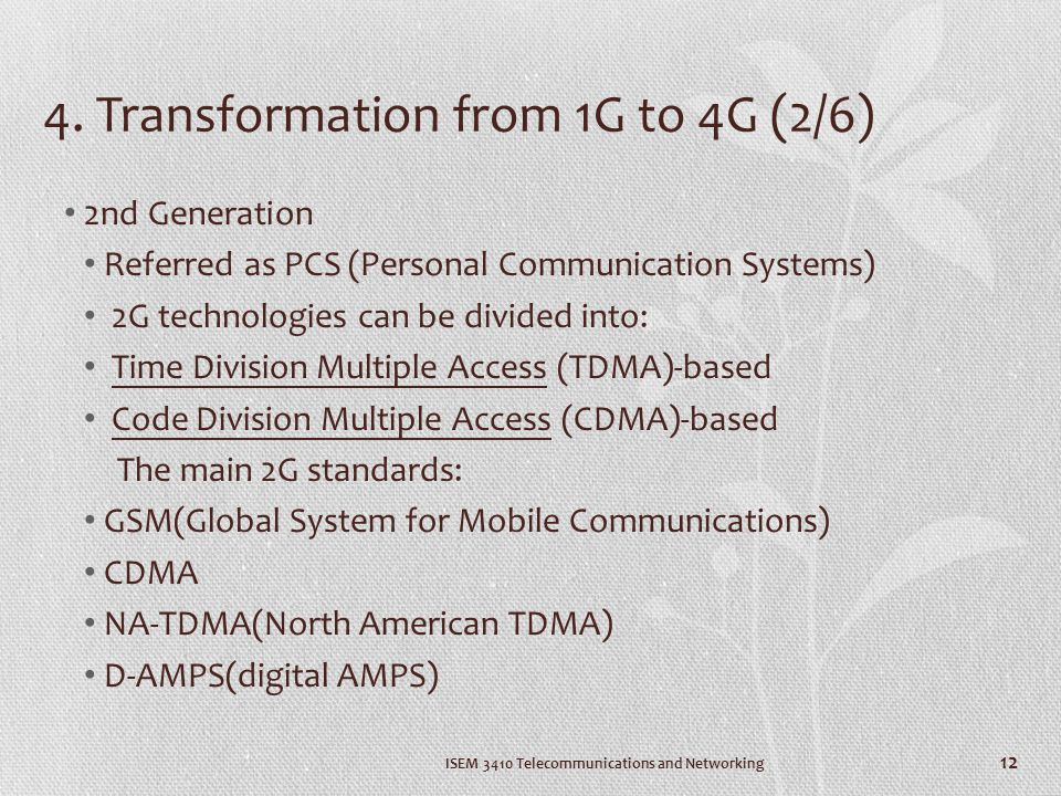 4. Transformation from 1G to 4G (2/6)