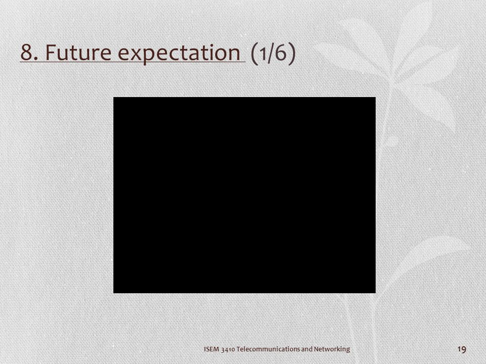 8. Future expectation (1/6)