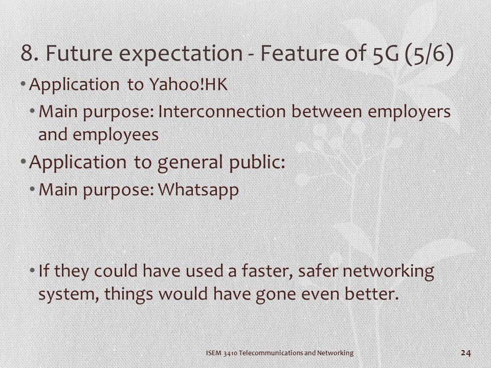 8. Future expectation - Feature of 5G (5/6)
