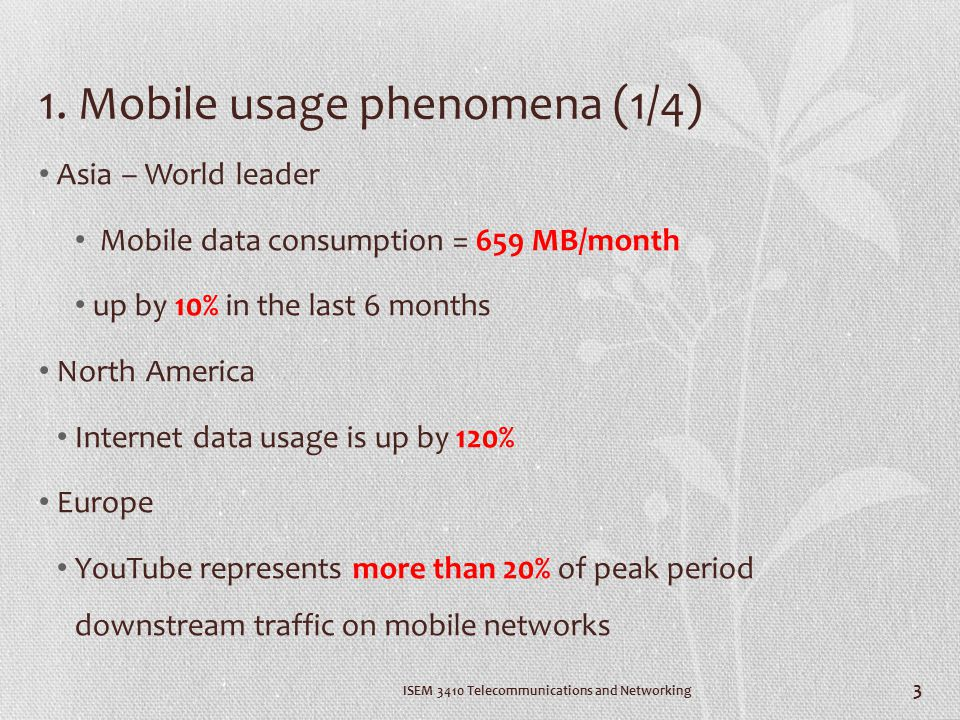 1. Mobile usage phenomena (1/4)
