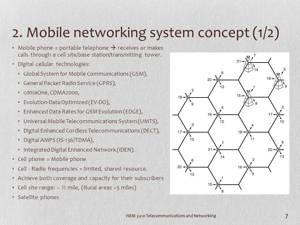 2. Mobile networking system concept (1/2)