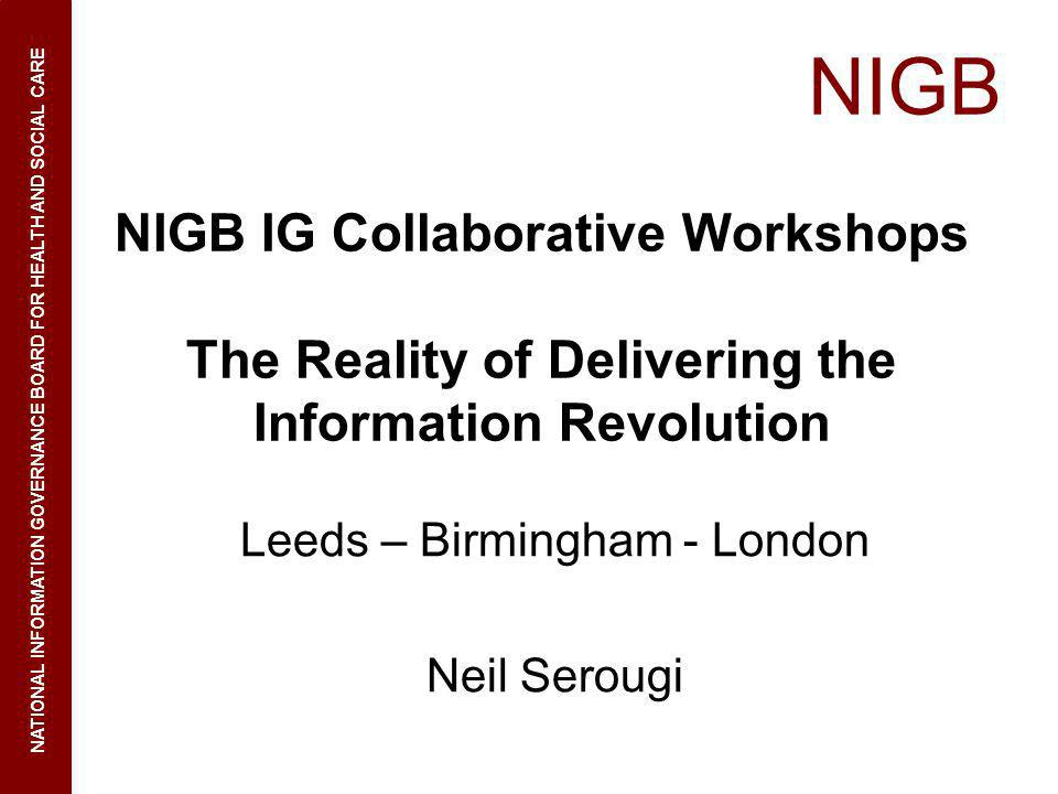 NIGB NIGB IG Collaborative Workshops
