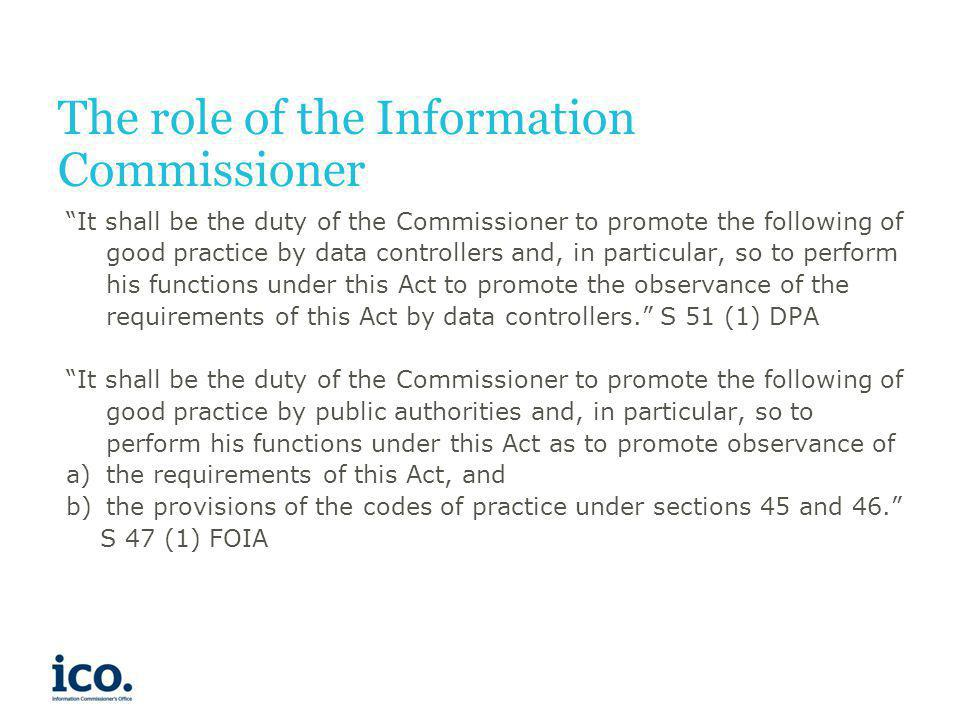 The role of the Information Commissioner