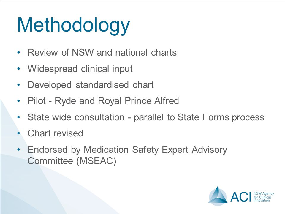 Methodology Review of NSW and national charts