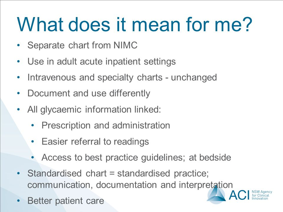 What does it mean for me Separate chart from NIMC