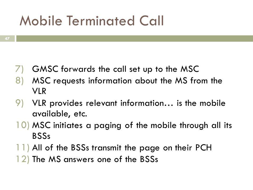Mobile Terminated Call