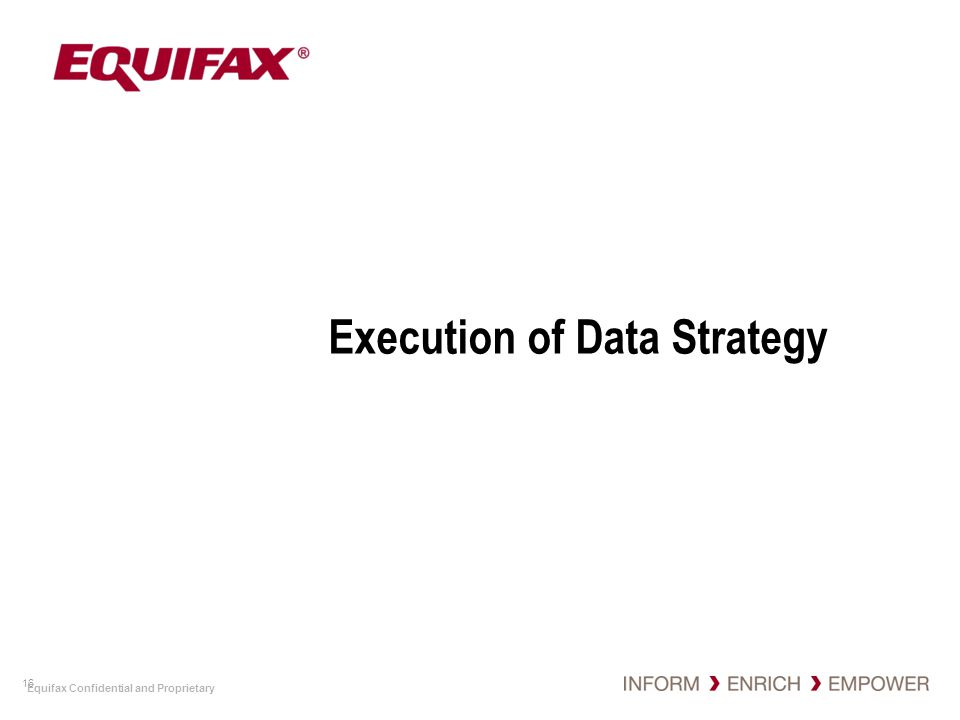 Execution of Data Strategy