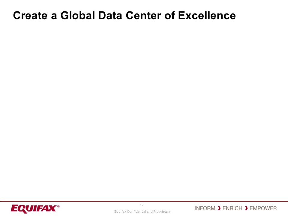 Create a Global Data Center of Excellence