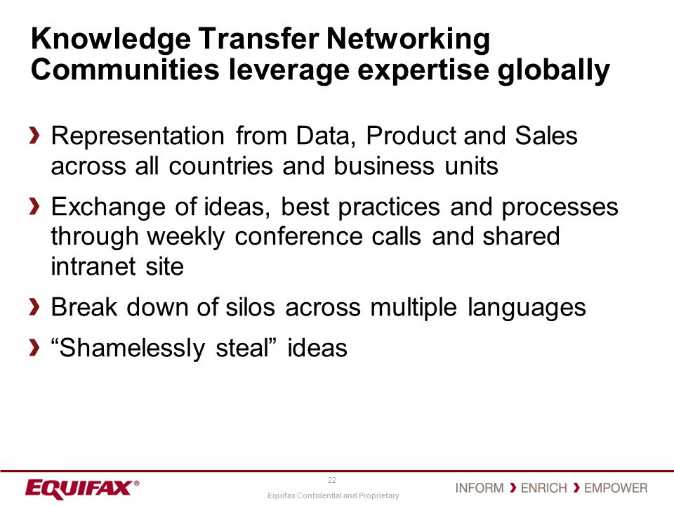 Knowledge Transfer Networking Communities leverage expertise globally