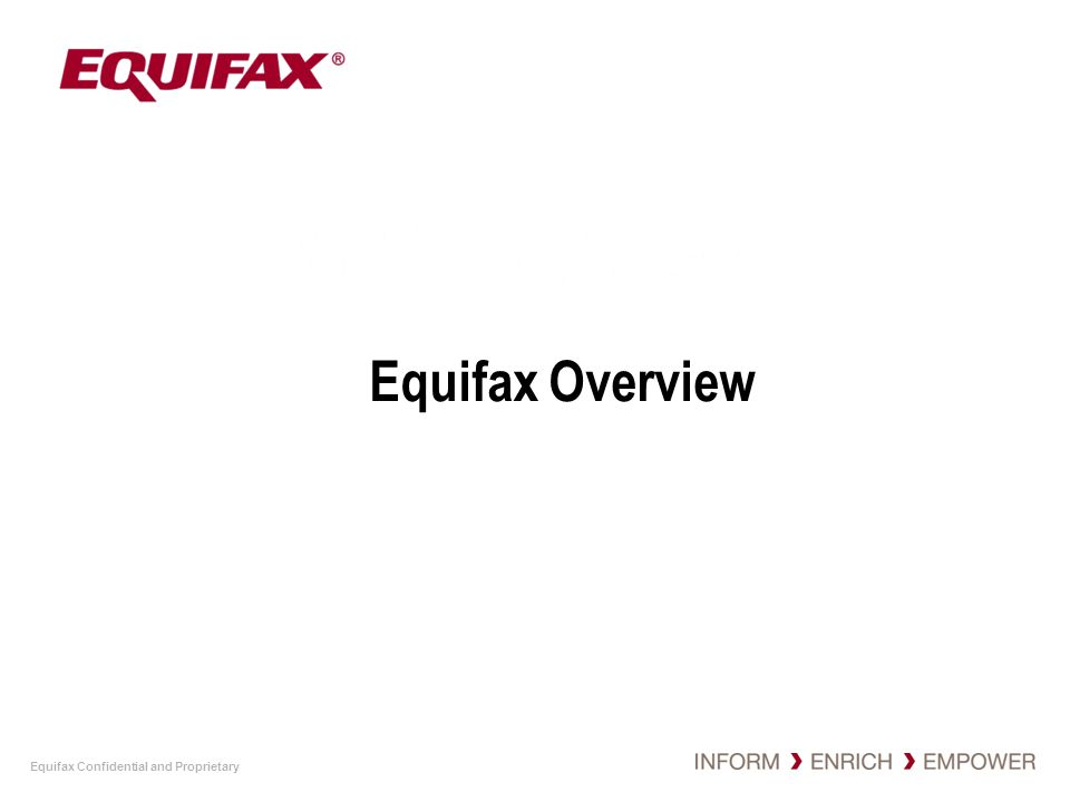Equifax Overview