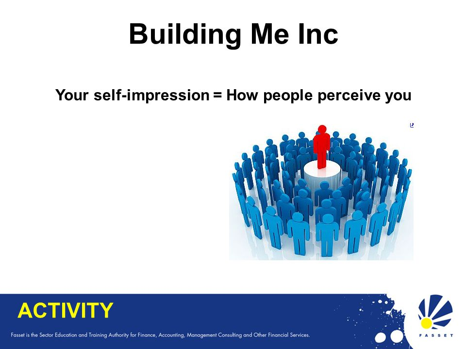 Your self-impression = How people perceive you