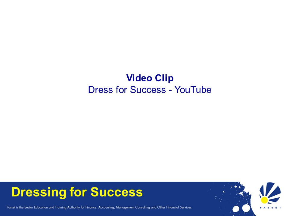Dress for Success - YouTube