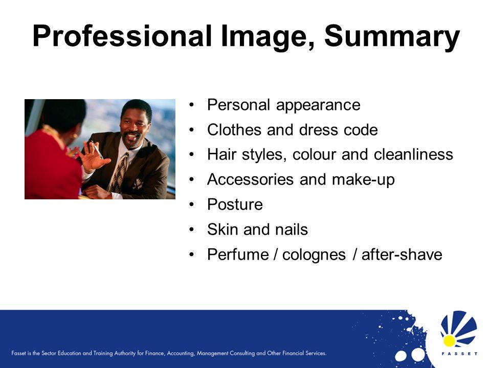 Professional Image, Summary