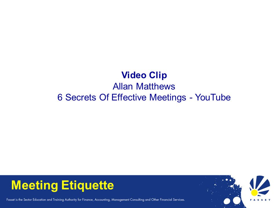 6 Secrets Of Effective Meetings - YouTube