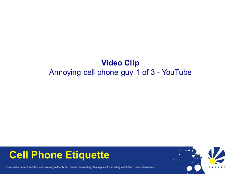 Annoying cell phone guy 1 of 3 - YouTube