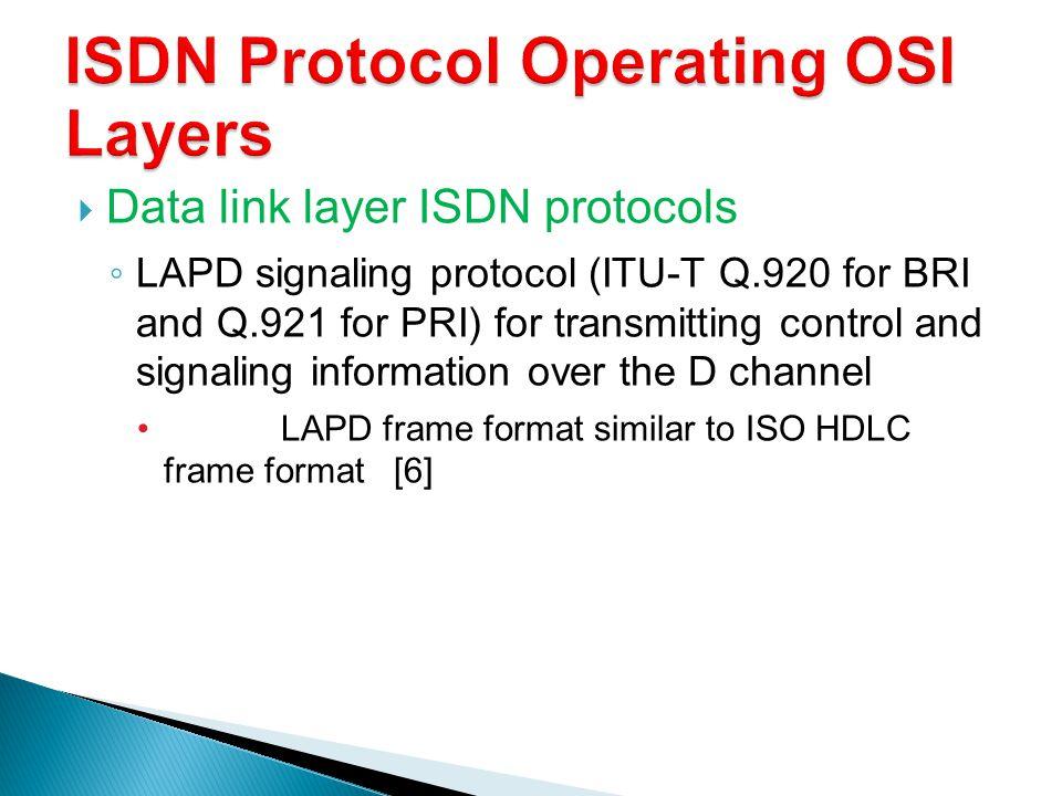 ISDN Protocol Operating OSI Layers
