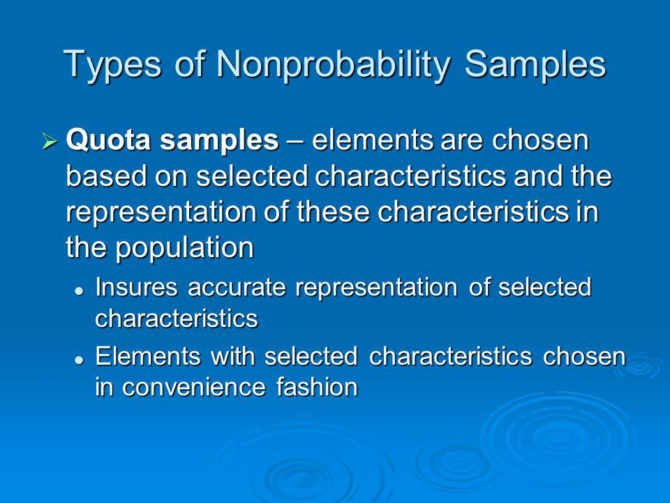 Types of Nonprobability Samples