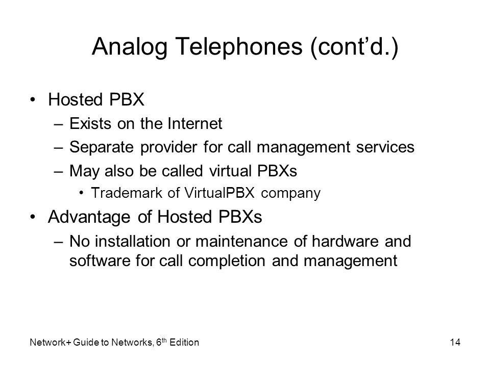 Analog Telephones (cont'd.)