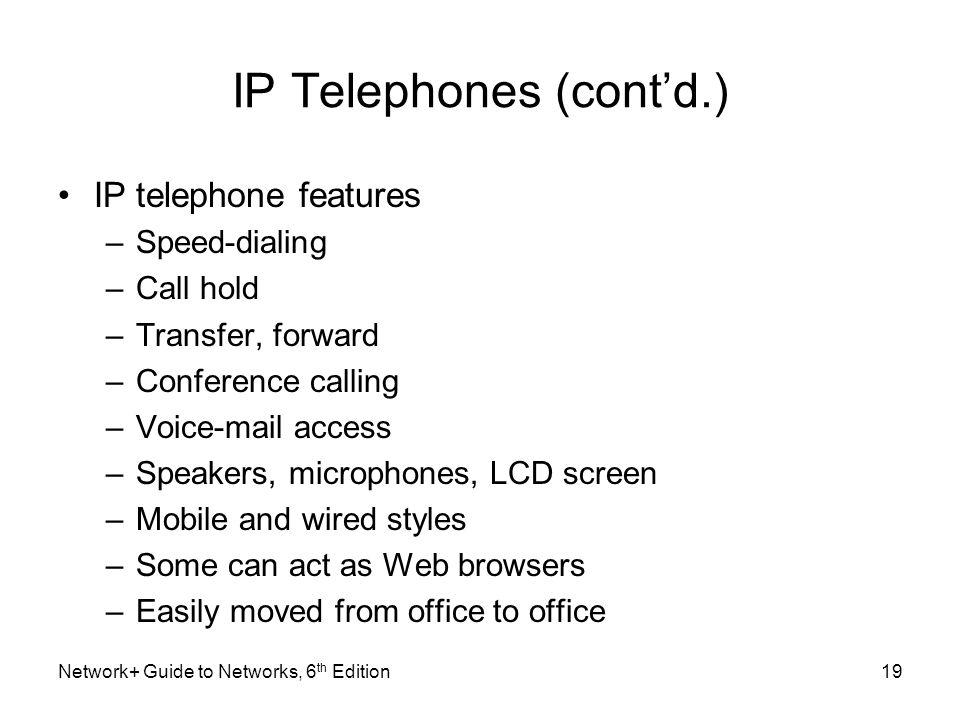 IP Telephones (cont'd.)