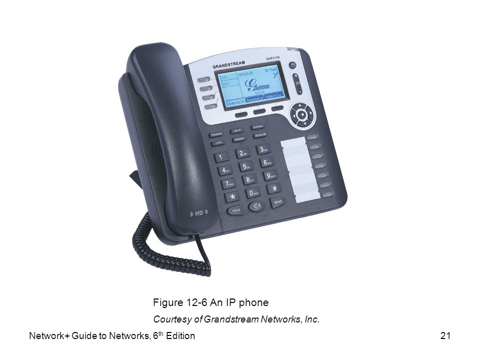 Figure 12-6 An IP phone Courtesy of Grandstream Networks, Inc.