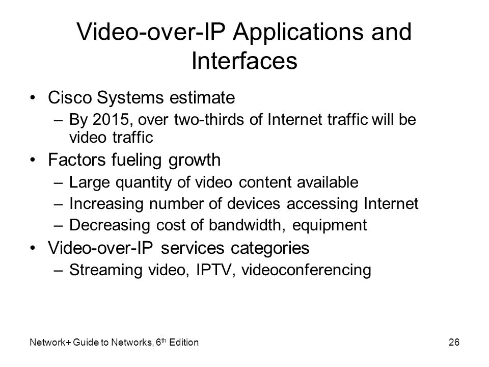 Video-over-IP Applications and Interfaces