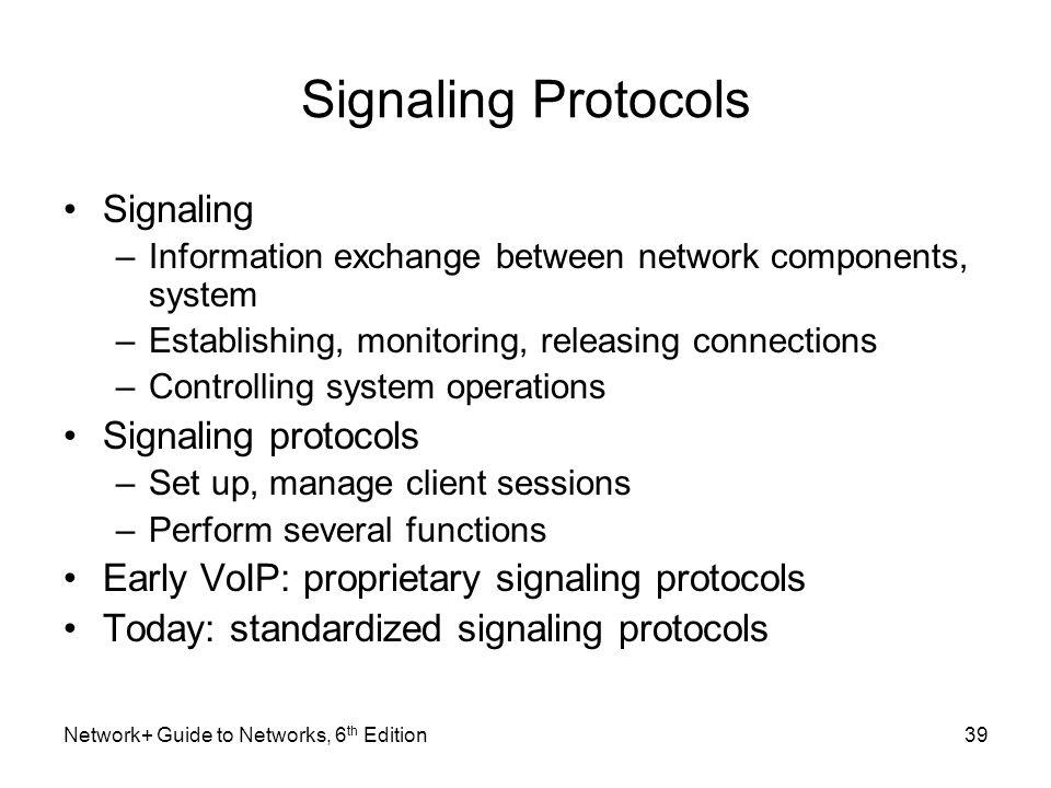 Signaling Protocols Signaling Signaling protocols