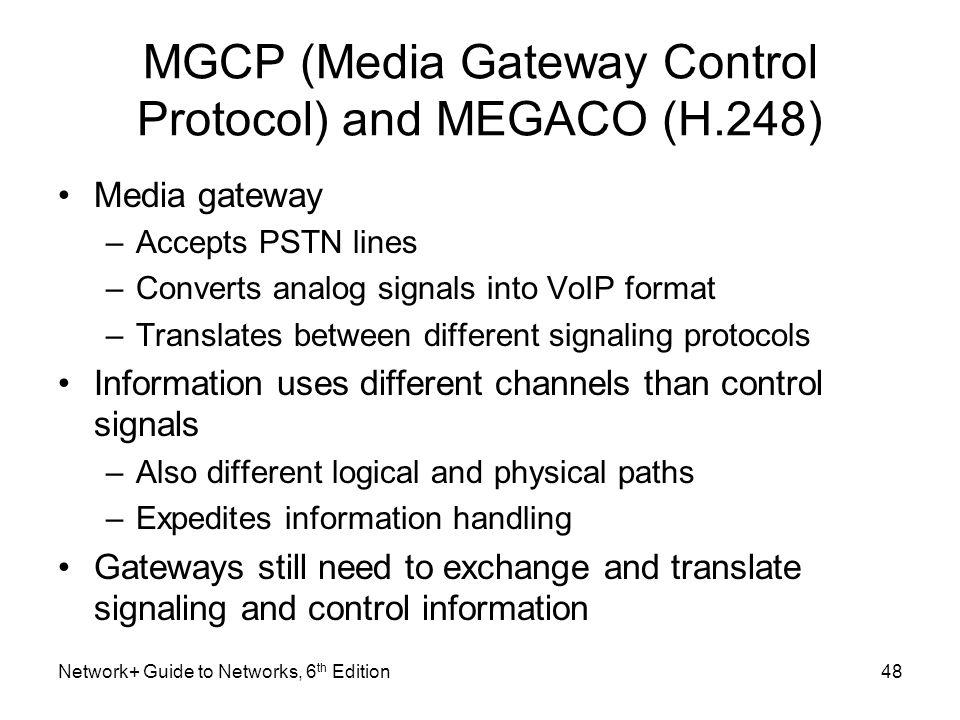 MGCP (Media Gateway Control Protocol) and MEGACO (H.248)