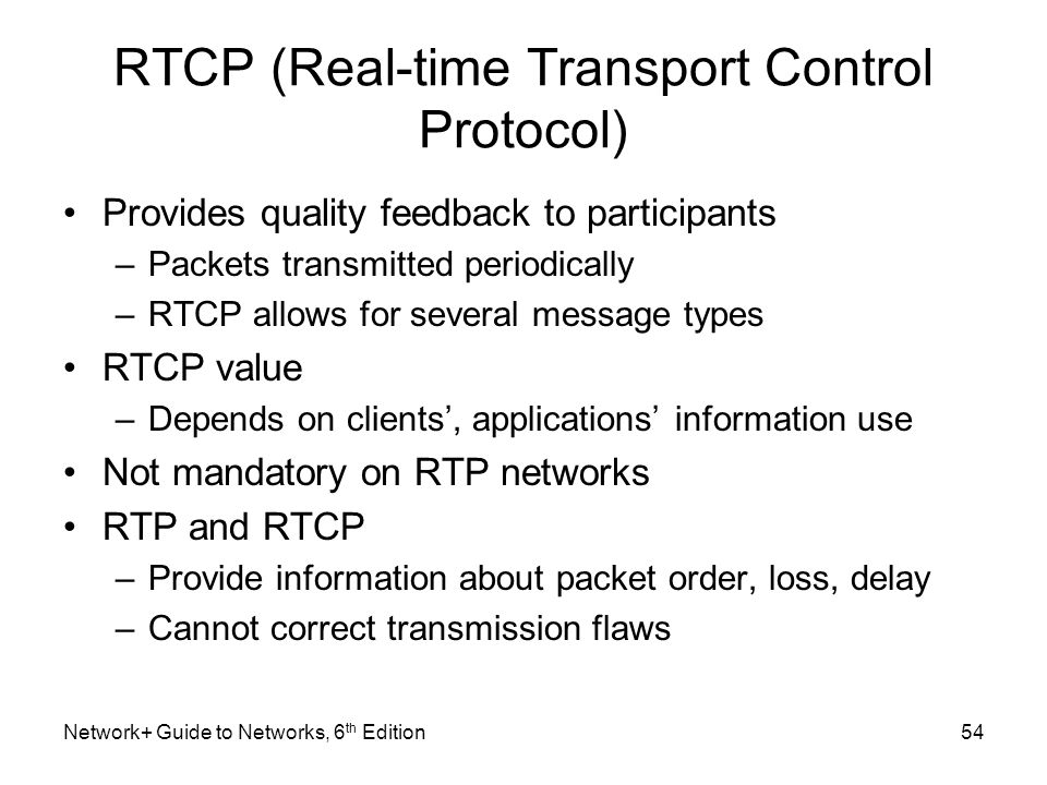 RTCP (Real-time Transport Control Protocol)