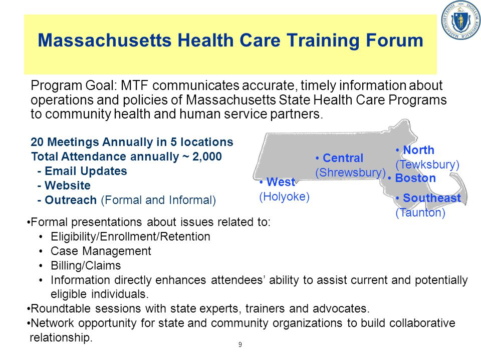Massachusetts Health Care Training Forum