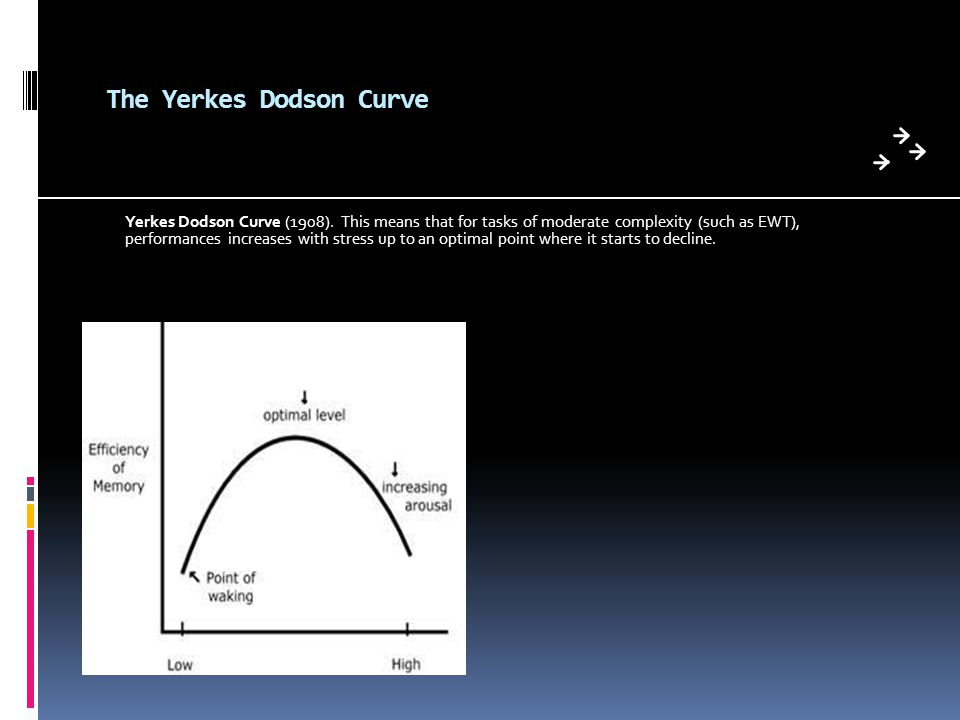 The Yerkes Dodson Curve