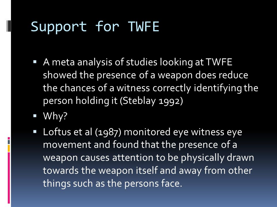 Support for TWFE