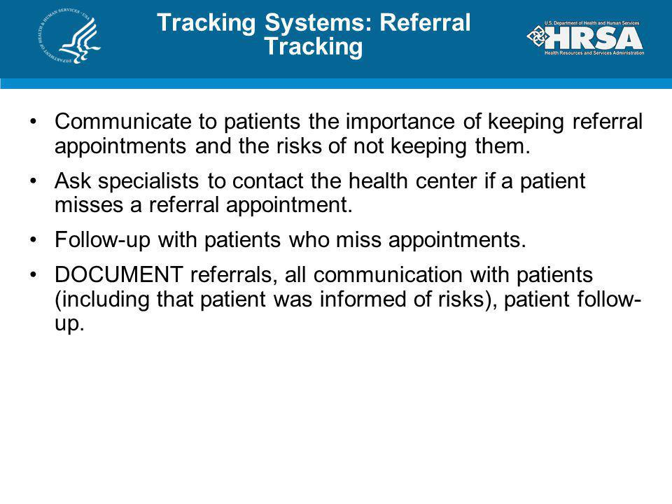 Tracking Systems: Referral Tracking