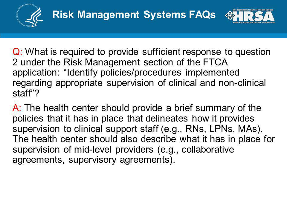 Risk Management Systems FAQs