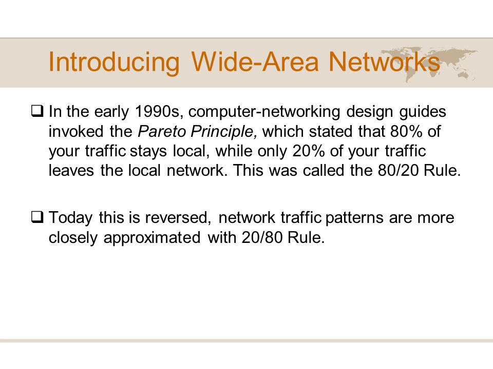 Introducing Wide-Area Networks