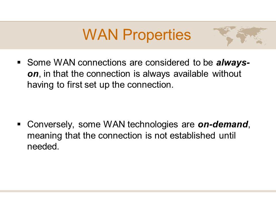 WAN Properties