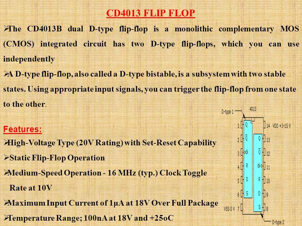 CD4013 FLIP FLOP