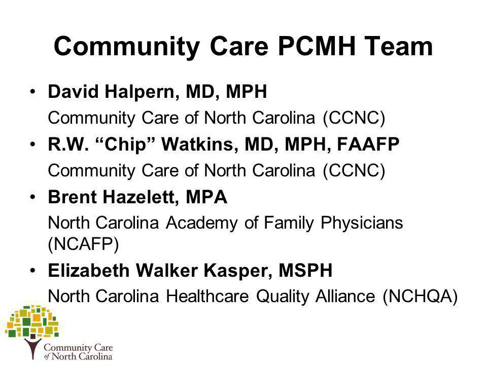 Community Care PCMH Team