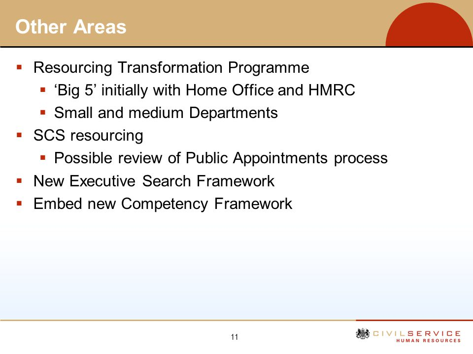 Other Areas Resourcing Transformation Programme