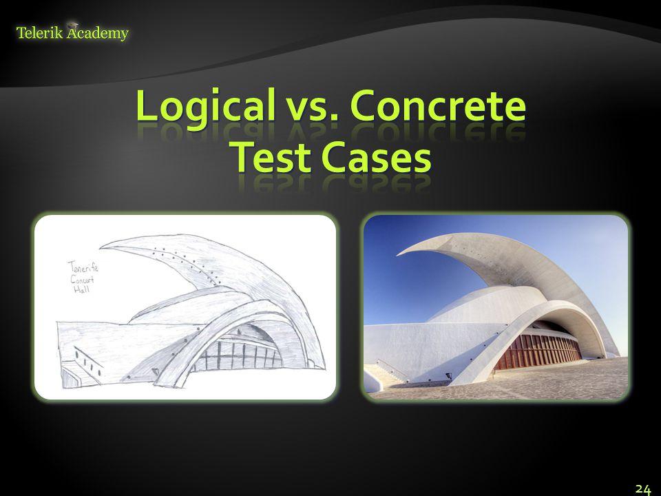 Logical vs. Concrete Test Cases