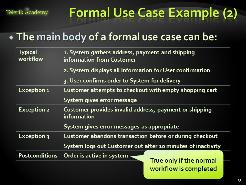 Formal Use Case Example (2)