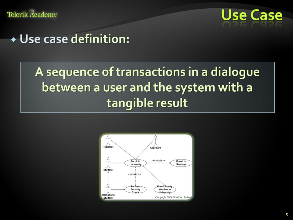Use Case Use case definition: